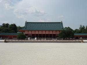 Heian Jingu picture with no one on the field