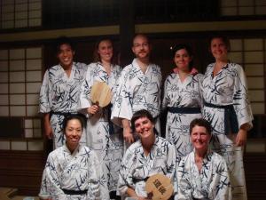 group photo in yukatas