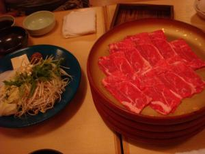 marble beef at shabu shabu