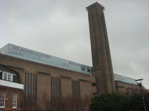 Outside of the Tate