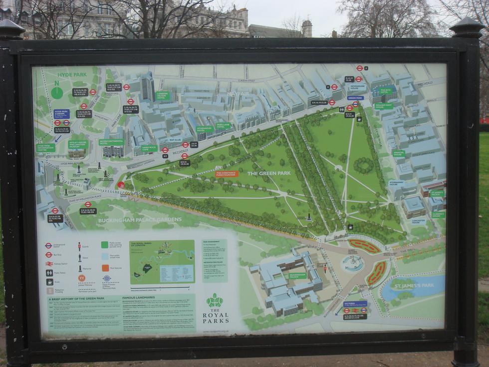 Hyde Park map - start of tour in bottom left corner