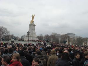 Crowded changing of guards. Dayum.