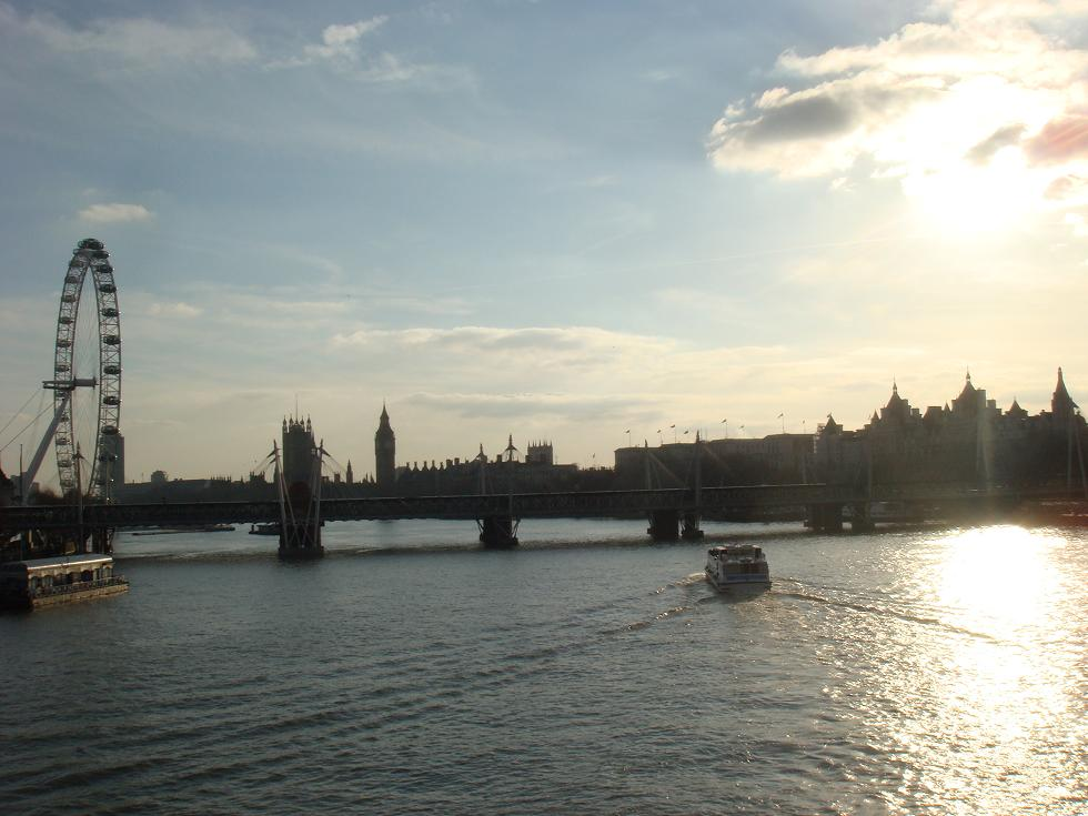 View from the Waterloo Bridge looking South