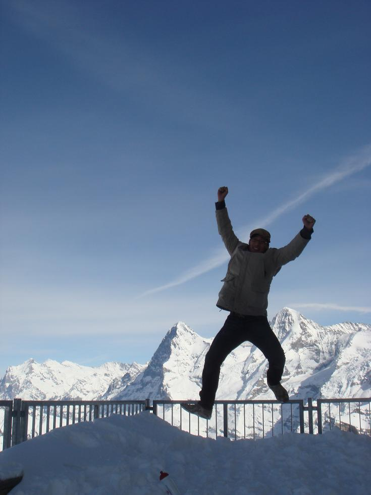 joyful: jumping from the complete overflow of joy.