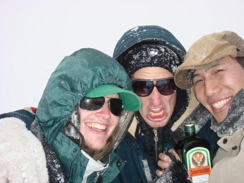 Sledging with Jager